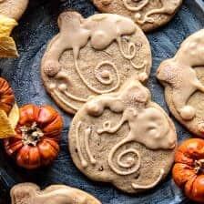 Glazed Brown Sugar Maple Cookies.