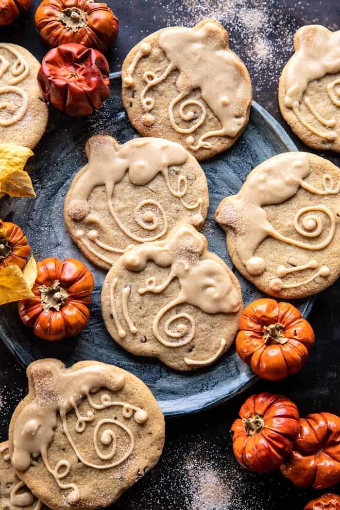 Glazed Brown Sugar Maple Cookies | halfbakedharvest.com