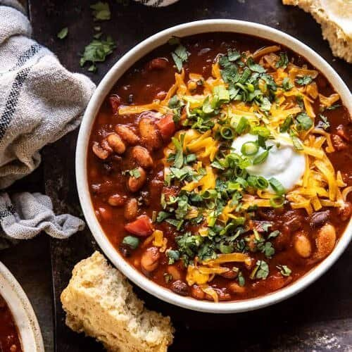 Healthy Slow Cooker Chipotle Bean Chili Half Baked Harvest