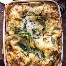 4 Cheese Sage Pesto Florentine Lasagna.
