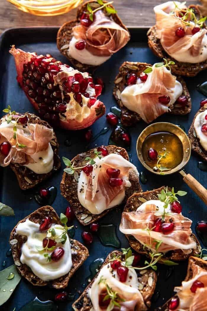 Honey Whipped Ricotta and Prosciutto Crackers | halfbakedharvest.com