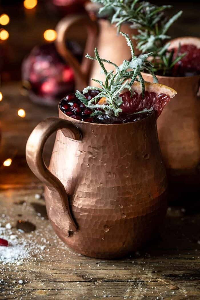 front facing photo of Pomegranate Champagne Mule