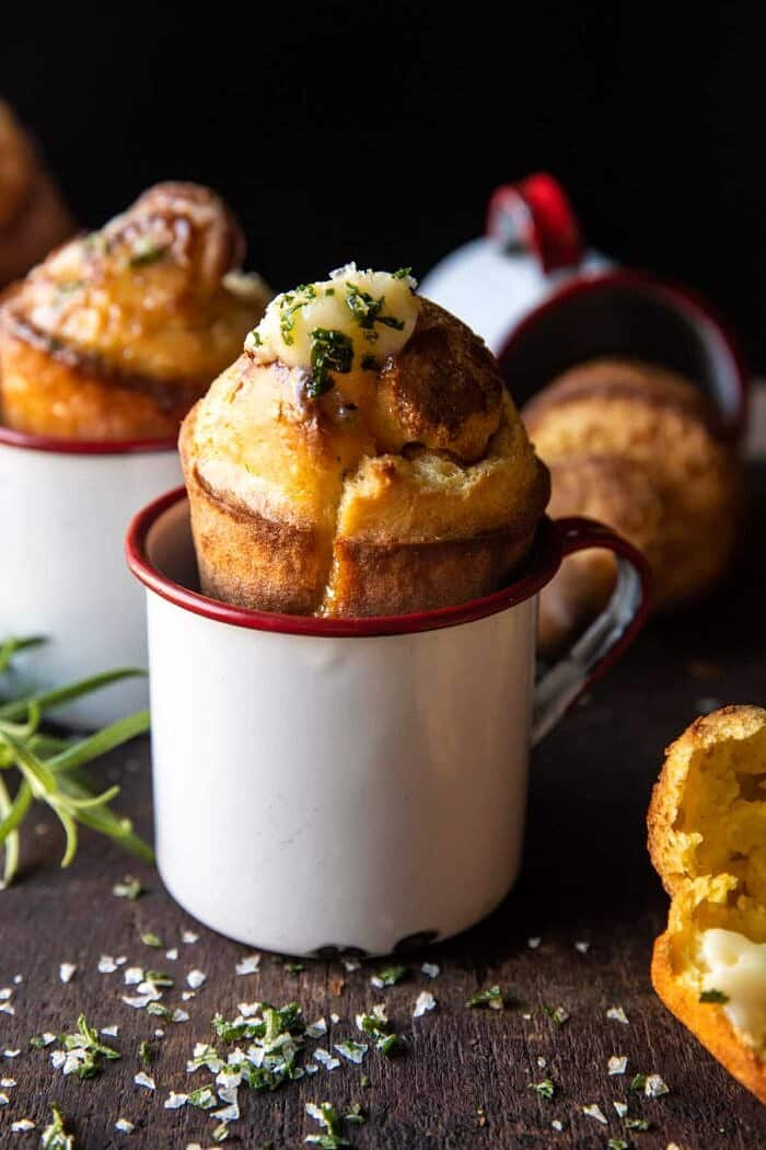 Salted Rosemary Popovers with Honey Butter | halfbakedharvest.com