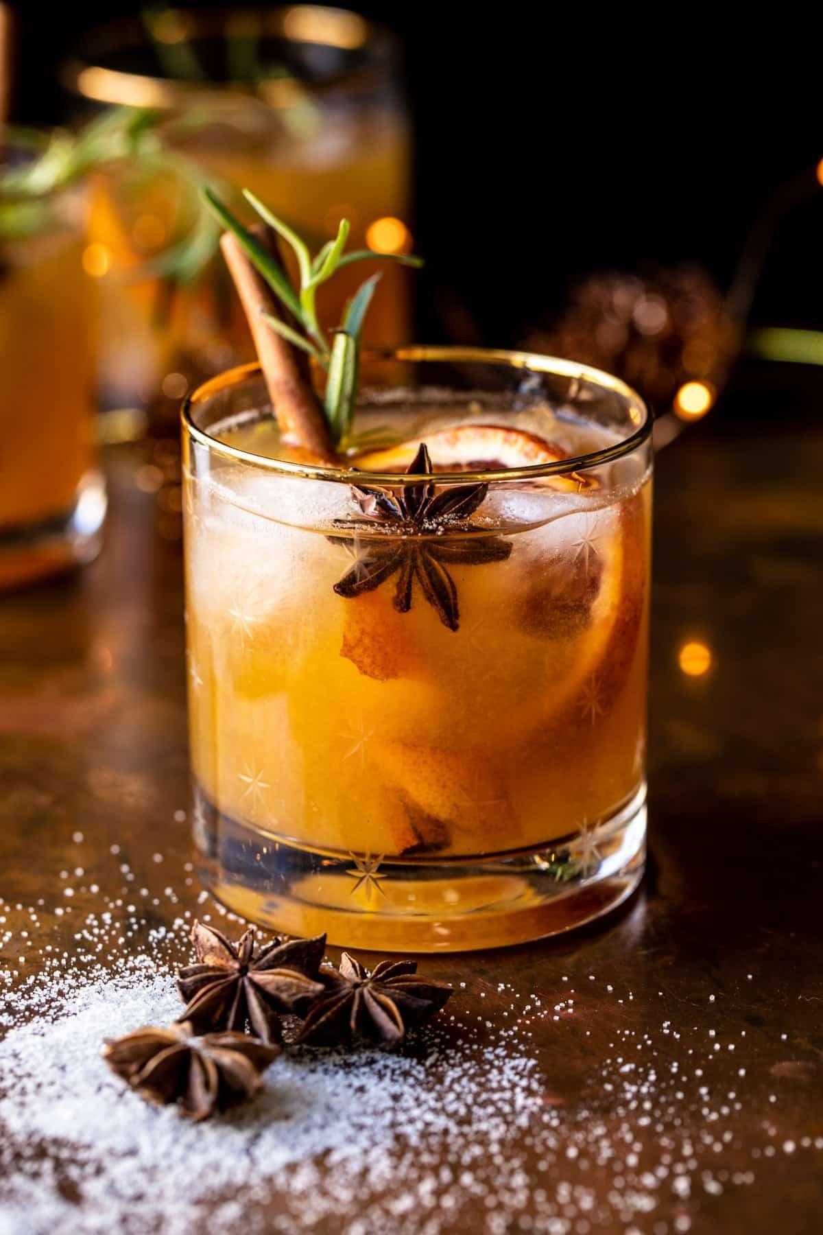 Spiced Honey Bourbon Old Fashioned   halfbakedharvest.com