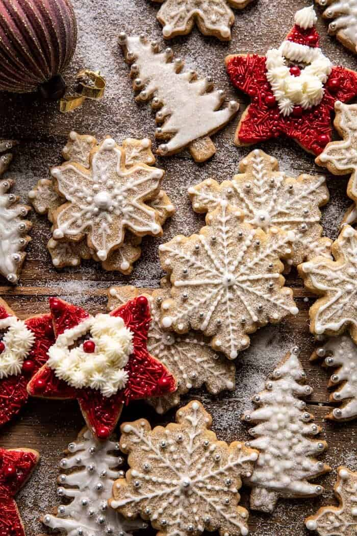 overhead photo of The Santa Clause Cookies