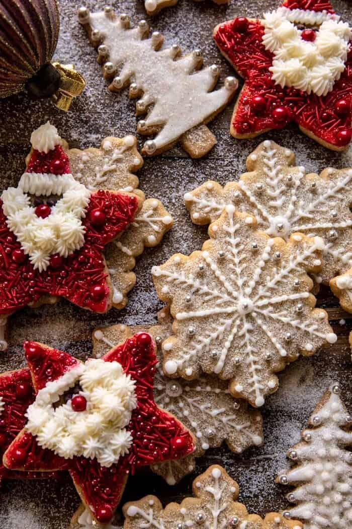 overhead close up photo of The Santa Clause Cookies