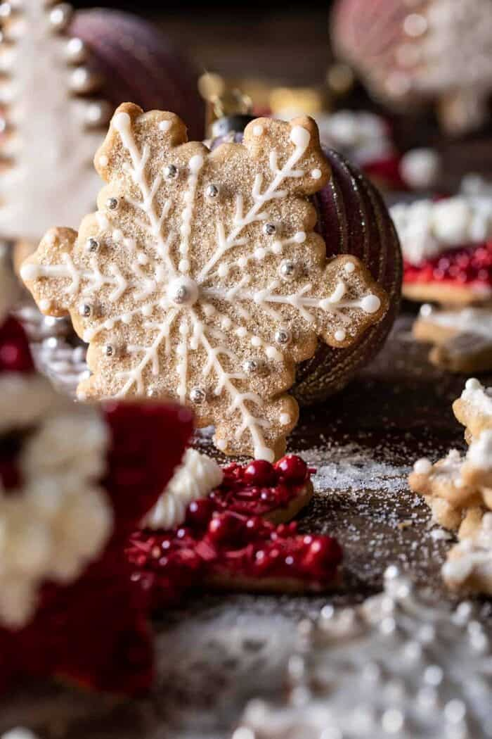 front facing photo of The Santa Clause Cookies snowflake