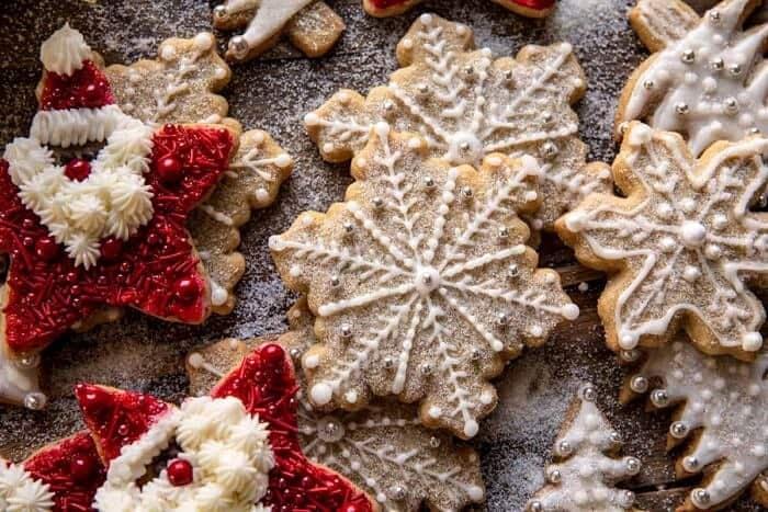 overhead horizontal photo of The Santa Clause Cookies