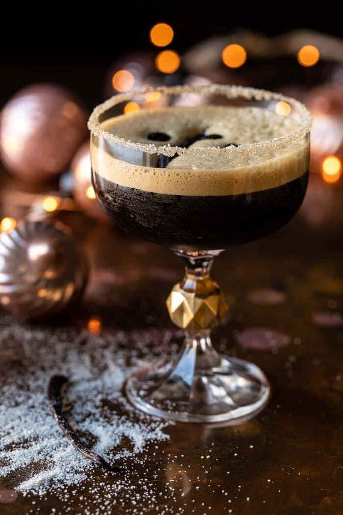 close up photo of Vanilla Espresso Martini
