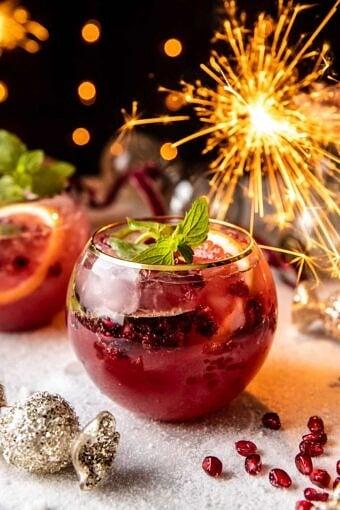 Citrus Pomegranate Champagne Twist | halfbakedharvest.com