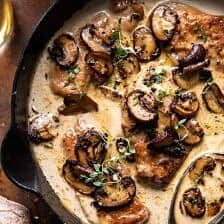 Creamy Balsamic Mushroom Chicken Marsala.