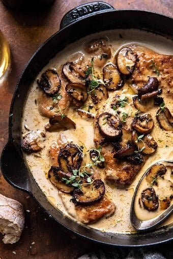 Creamy Balsamic Mushroom Chicken Marsala | halfbakedharvest.com