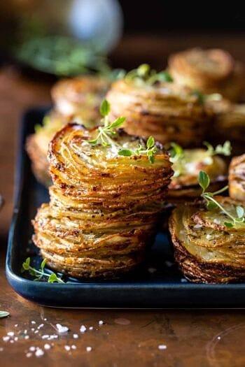 Crispy Cheesy Potato Stacks.