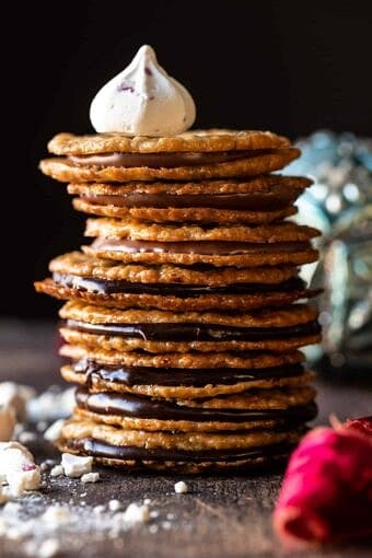 Easy Hot Chocolate Lace Cookies | halfbakedharvest.com