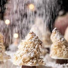 Easy Vanilla Sugar Dusted Macaroon Trees | halfbakedharvest.com