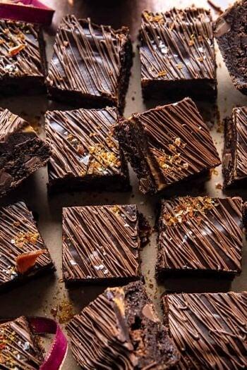 Milk Chocolate Peanut Butter Truffle Brownies.
