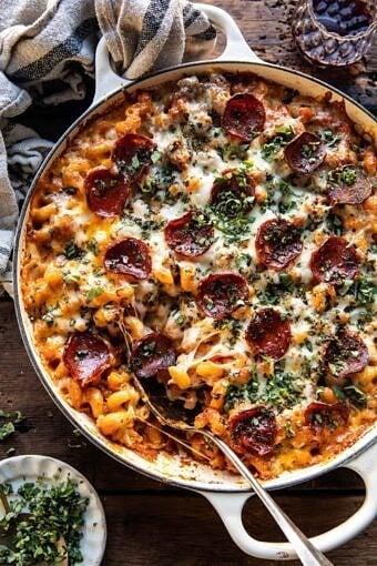 One Pot Spicy Alla Vodka Pizza Pasta | halfbakedharvest.com