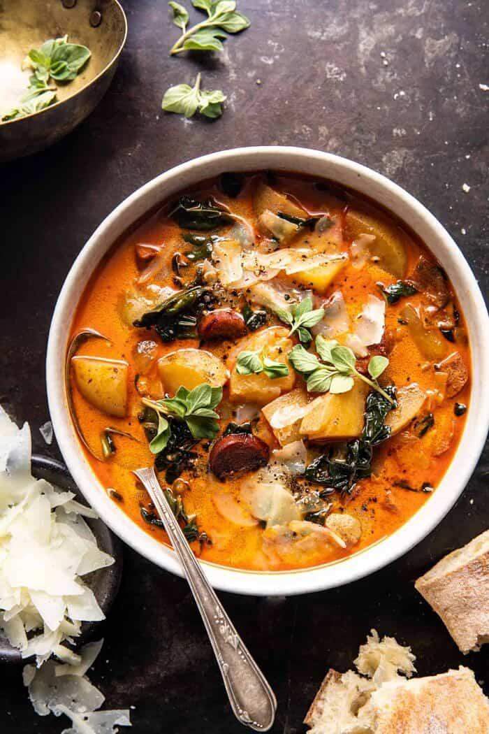 Smoky Potato and Kale Soup | halfbakedharvest.com