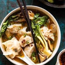 25 Minute Wonton Soup with Sesame Chili Oil | halfbakedharvest.com
