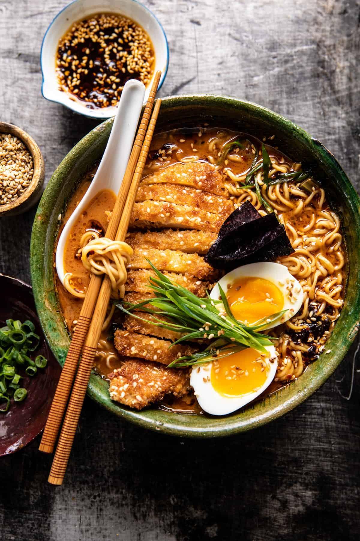 Ricetta Ramen Miso.30 Minute Spicy Miso Chicken Katsu Ramen Half Baked Harvest