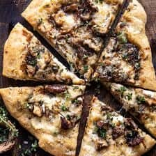 Balsamico Paddestoel Fontina Pizza |  halfbakedharvest.com