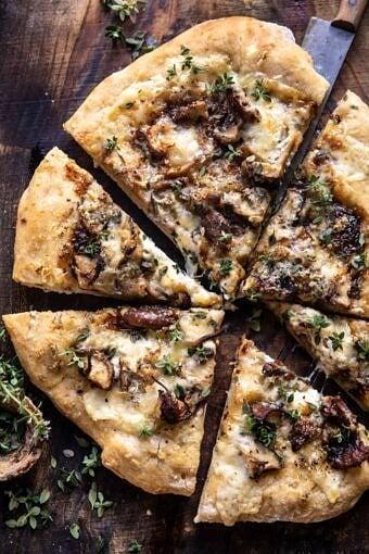 Balsamic Mushroom Fontina Pizza | halfbakedharvest.com