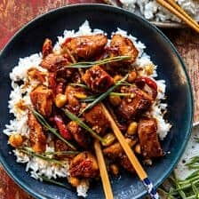 Healthier 25 Minute Kung Pao Chicken.