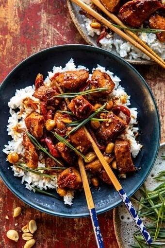 Healthier 25 Minute Kung Pao Chicken | halfbakedharvest.com