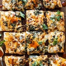 Sheet Pan Buffalo Chicken Pizza.