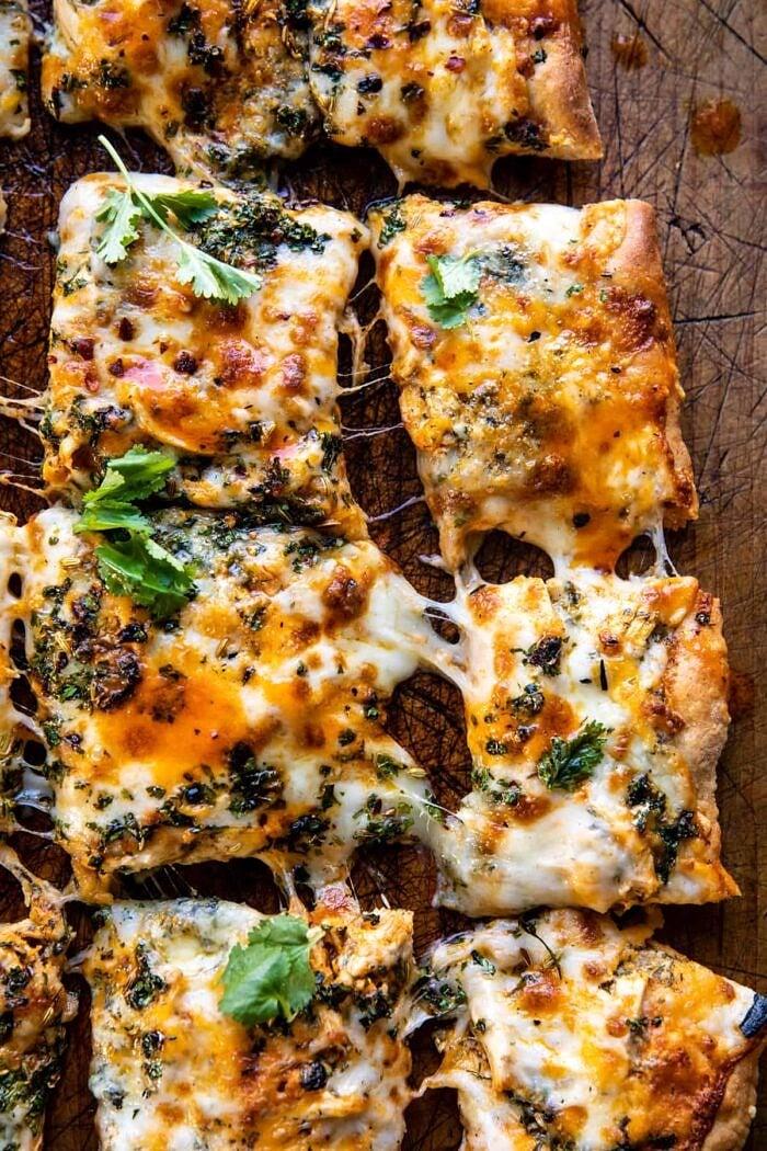 Sheet Pan Buffalo Chicken Pizza | halfbakedharvest.com