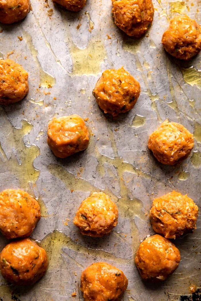 meatballs before baking