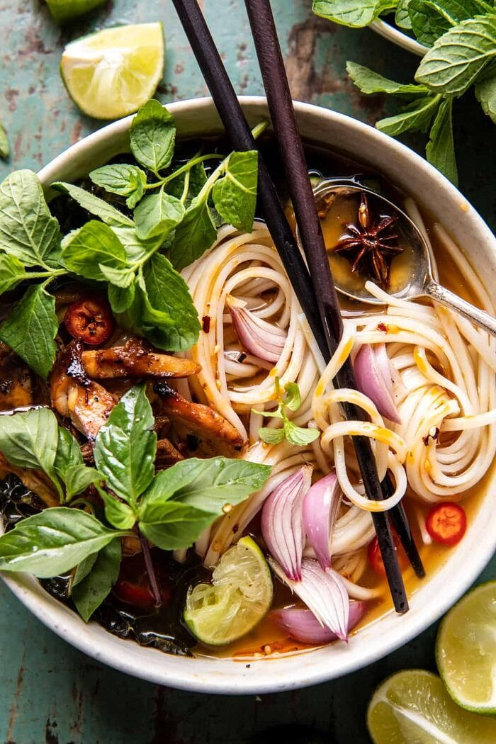 Weeknight Ginger Chicken Pho | halfbakedharvest.com