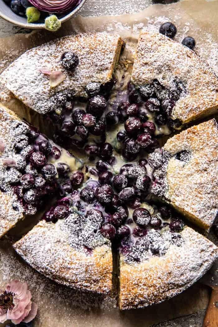 Blueberry Lemon Poppy Seed Crème Cake halfbakedharvest.com