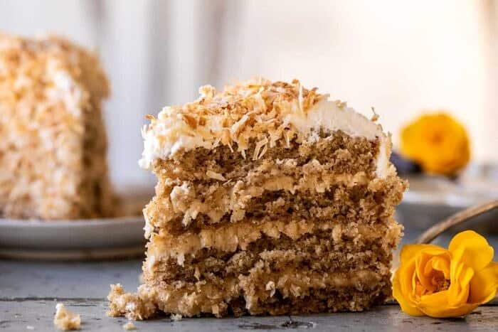 Coconut Pecan Caramel Butter Cake | halfbakedharvest.com