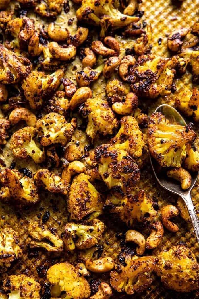 Crispy Black Pepper Turmeric Cauliflower and Garlic Noodles | halfbakedharvest.com