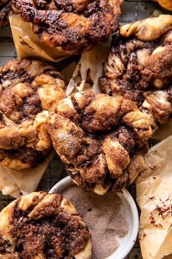 Easy Chocolate Cinnamon Crunch Knots | halfbakedharvest.com