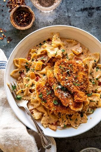 Southern Style Creamy Parmesan Chicken Pasta | halfbakedharvest.com