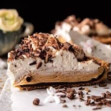 Vintage Chocolate Peanut Butter Pie.