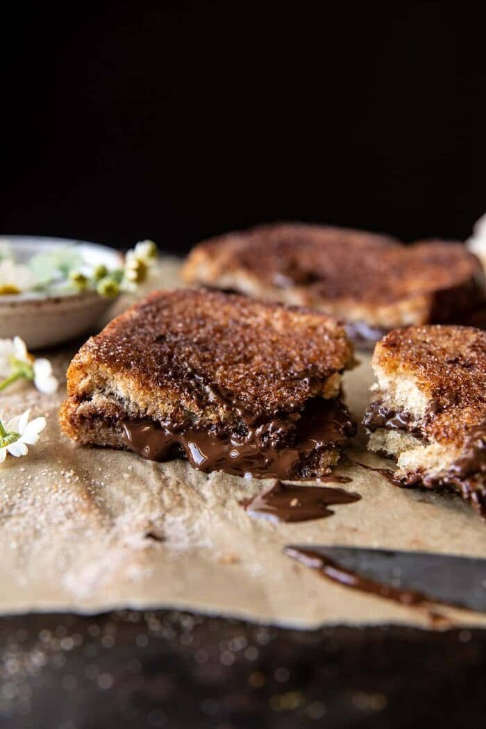 5 Minute Chocolate Cinnamon Sugar Toast | halfbakedharvest.com
