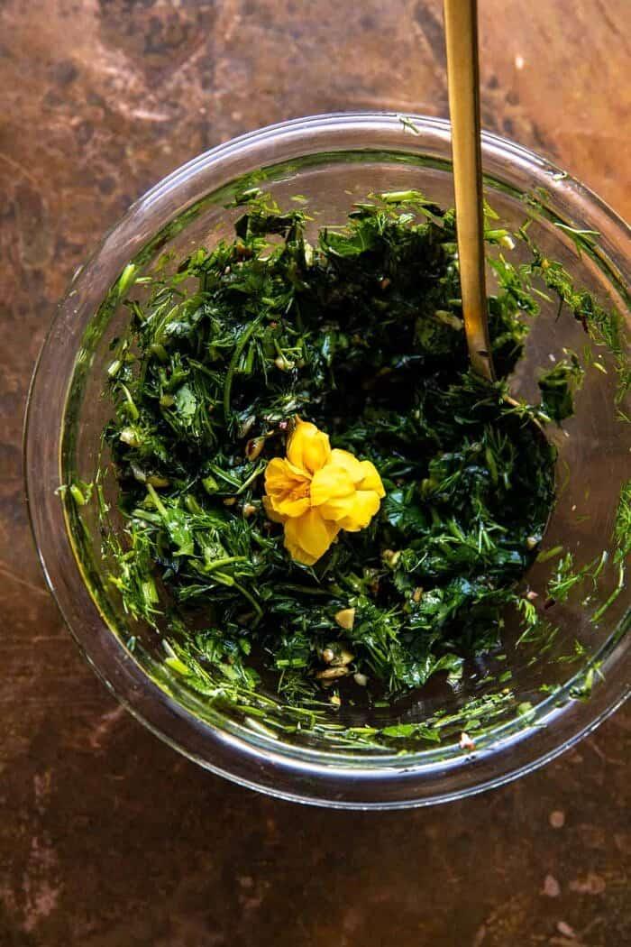 prep photo of herbs