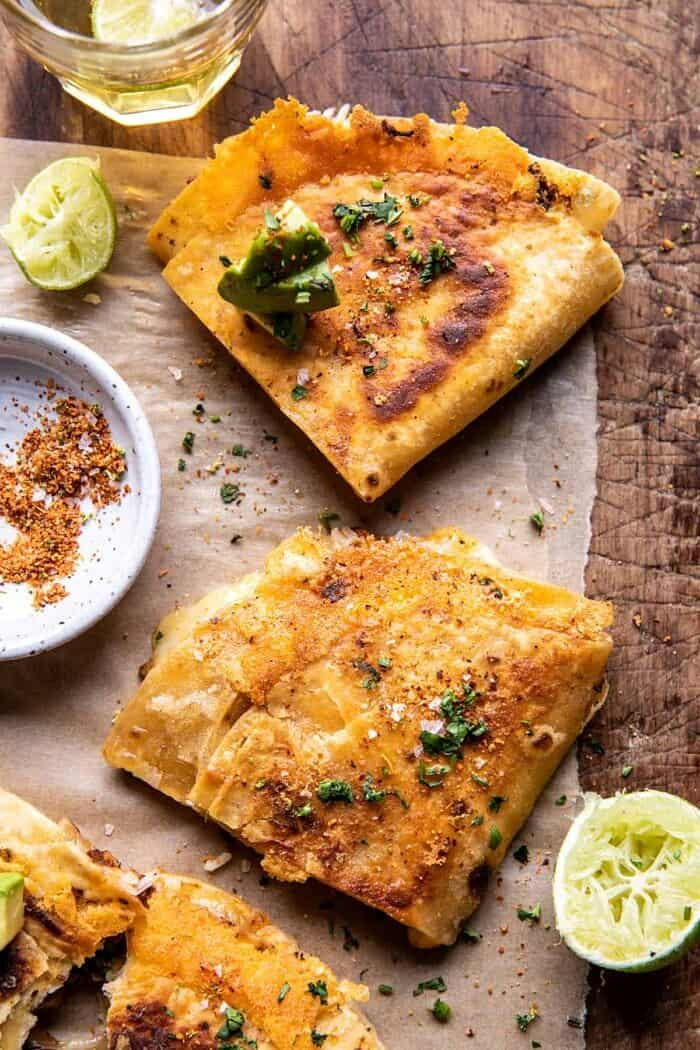 Folded Crispy Chipotle Chicken Wraps | halfbakedharvest.com