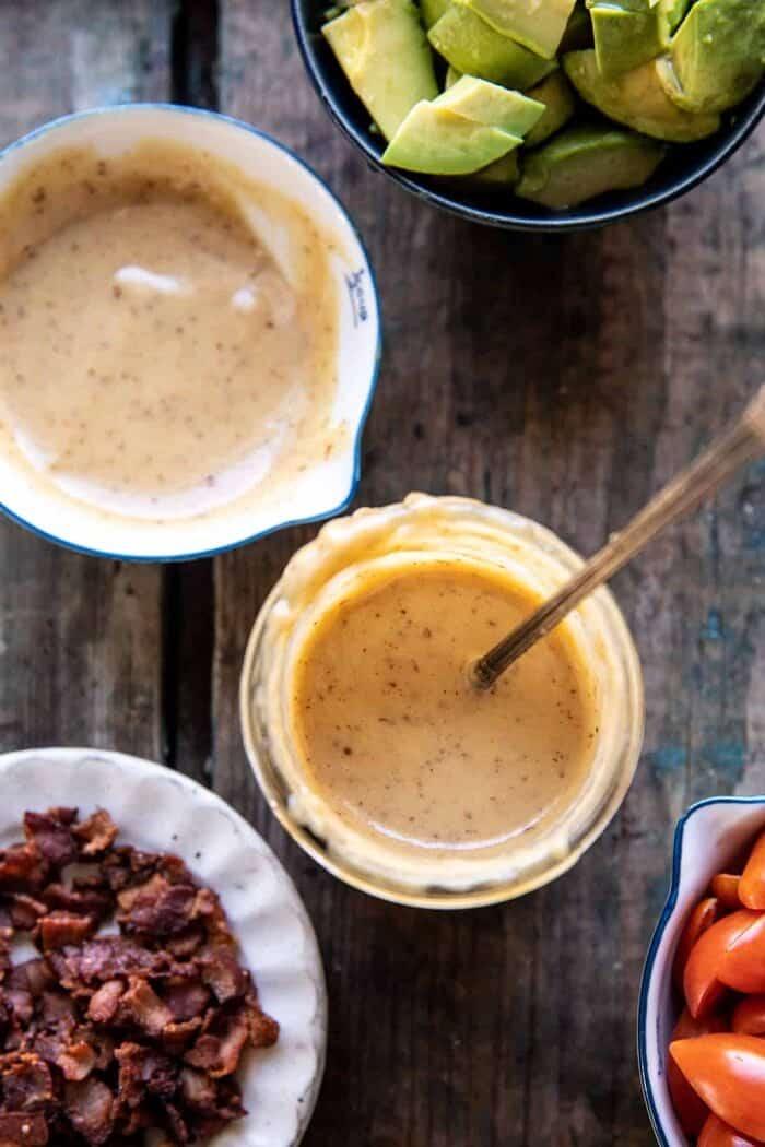 Honey Mustard Pretzel Chicken and Avocado Bacon Salad | halfbakedharvest.com