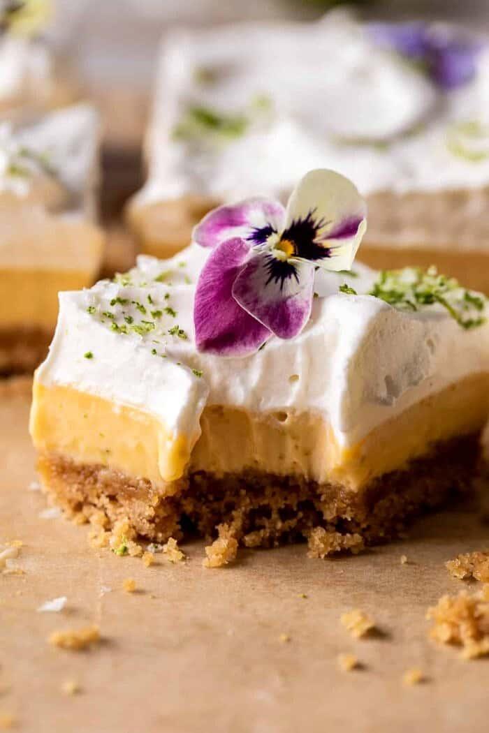 Lemon Key Lime Pie Bars | halfbakedharvest.com