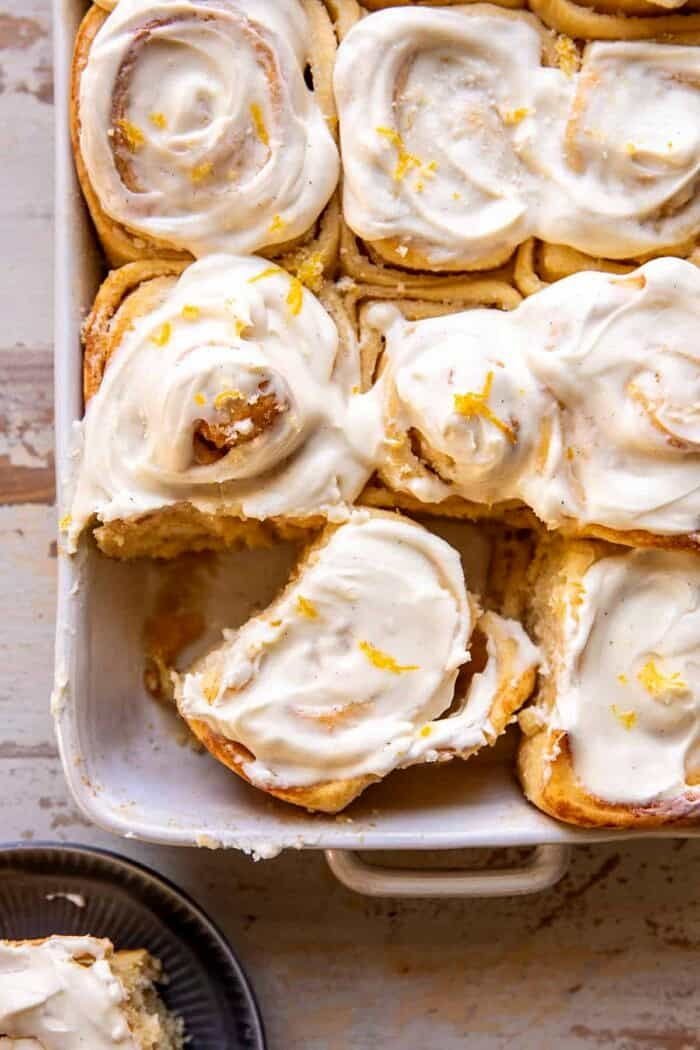 Lemon Sugar Rolls with Vanilla Cream Cheese Icing
