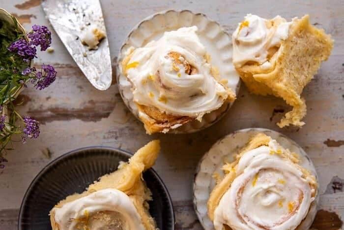 Lemon Sugar Rolls with Vanilla Cream Cheese Icing | halfbakedharvest.com
