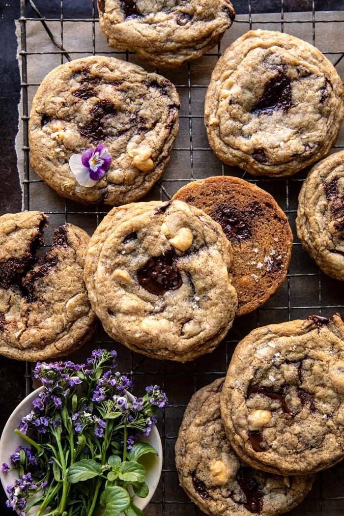 overhead photo of Magic Chocolate Chip Cookies