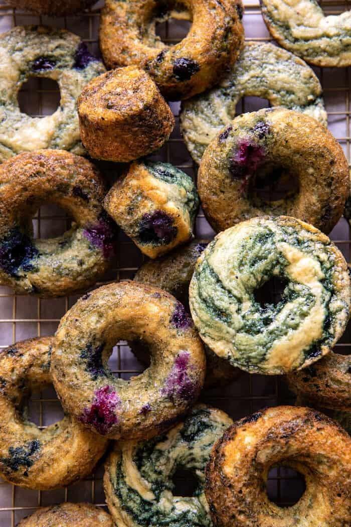 Baked Blueberry Cinnamon Sugar Doughnuts   halfbakedharvest,com