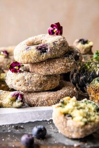 Baked Blueberry Cinnamon Sugar Doughnuts | halfbakedharvest,com