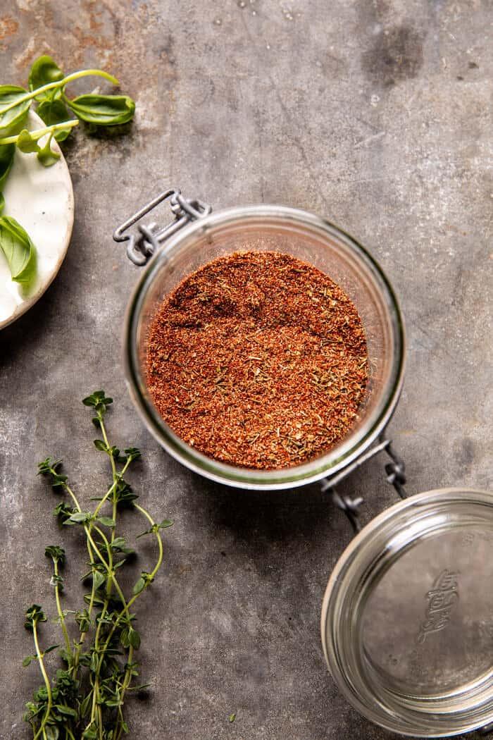 prep photo of homemade cajun seasoning blend