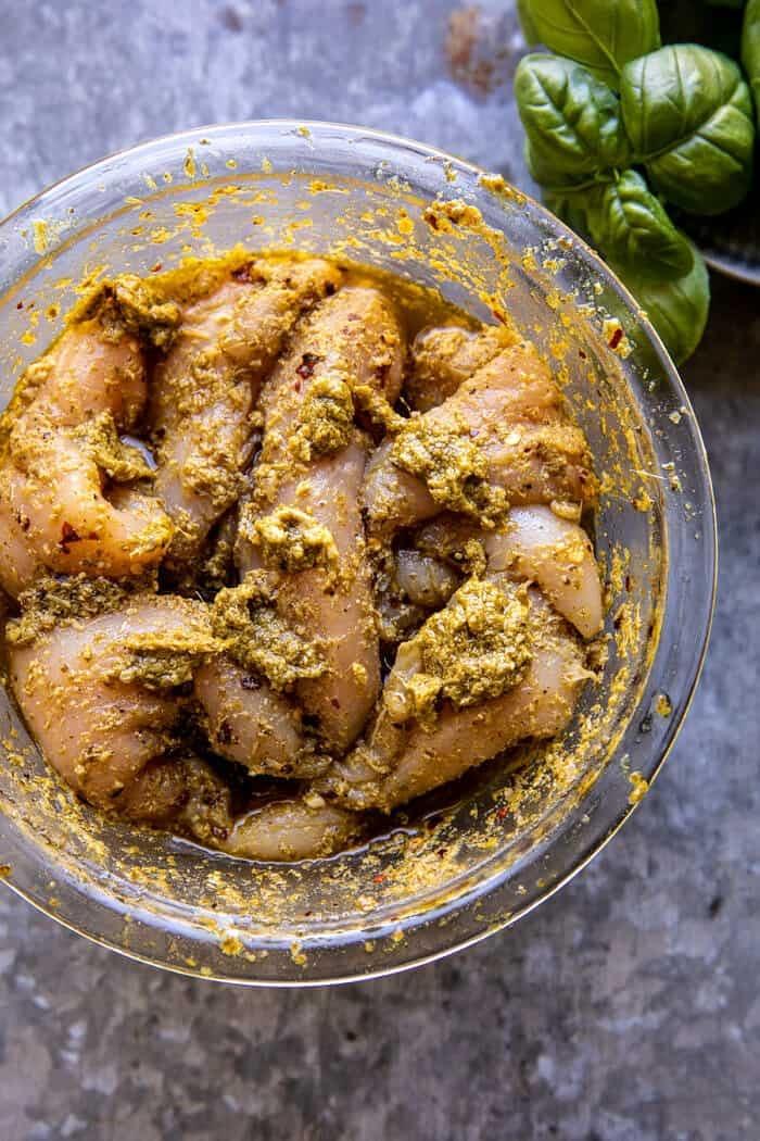 Pesto Chicken before cooking